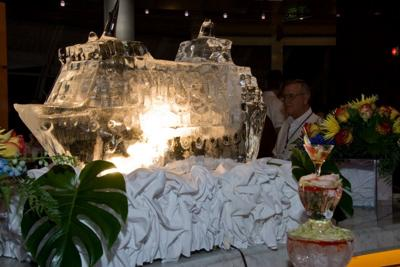 An Ice Sculpture at the Midnight Buffet