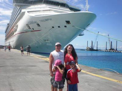 Outside our ship - the Triumph